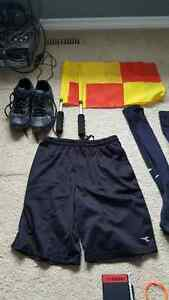 Men's soccer referee kit w/ flags pump shorts watch whistle Regina Regina Area image 3
