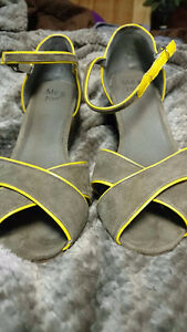 Me & Joe wedge peep toe sandals $30 OBO