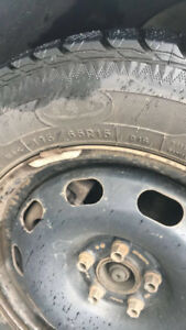 4 Winter Tires on rims in Excellent Used Condition
