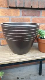 Large Glazed Terracotta Plant Pot or Pot Holder