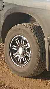 Winter Tires w/ Rims - Like New! 265/70R17