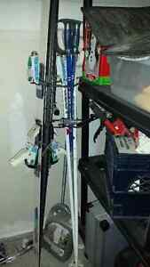 Dynastar down hill ski and 2 sets of poles