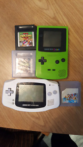 Game boys and 3 games