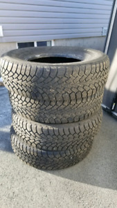 Set of Four 235/75R15 Goodyear Nordic Winter  Truck Tires
