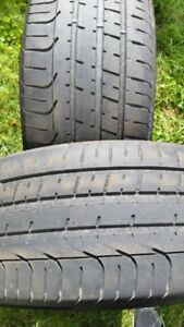 "A pair of 255/35/20"" tires"