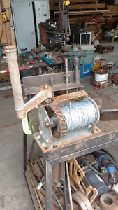 hand winch with new Cable rated 1000 lbs