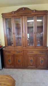 China Cabinet and Hutch - Reduced price