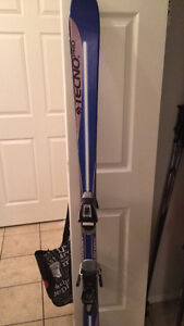 Boots skis and poles