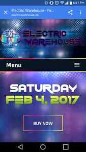 2 tickets to Electric Warehouse Halifax Feb 4