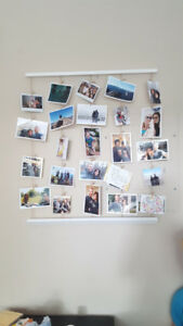 White Wood Photo Wall Hanging