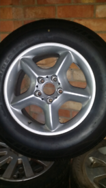 Bmw x5 spare alloy wheel and as new 235/65/17 tyre