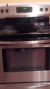 Like new stainless steel fridge and stove for sale