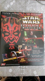 86 double sided Star wars episode 1 widevision trading cards limited e