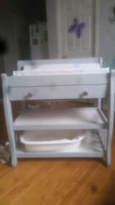 Lowered Price! Changing table with pad and tub.