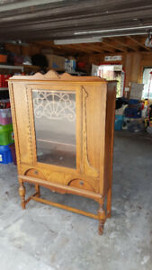 Antique / Vintage Solid Wood China Cabinet - $195 OBO
