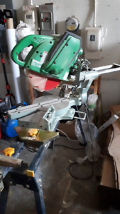 Hitachi C10FS Sliding Dual Compound Miter Saw + stand for sale