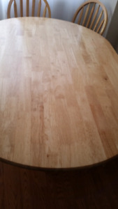 Beautiful wooden table with 4 chairs