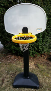 Little Tikes Basketball: yellow rim, adjust. height, great cond.