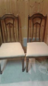 Free:  Set of 4 dining chairs