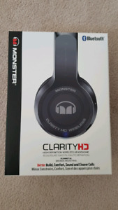 NEW sealed Monster HD Clarity on-ear Headphones Gunmetal Grey