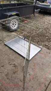 Foldable DOG CAGE Stainless removable bottom