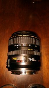Canon 28-105 3.5-4.5 II usm full frame lens with 3 filters