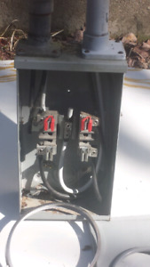 100AMP METER BASE MAST AND GROUND PLATE