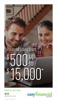 Quick and easy loans from $500 up to $15 000