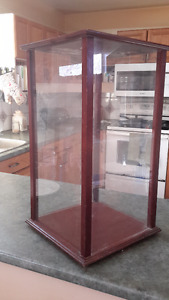 REDUCED!! Vintage Mahogany Display Case