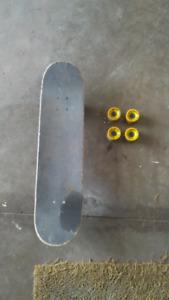 Darkstar skateboard also comes with freeride longboard wheels