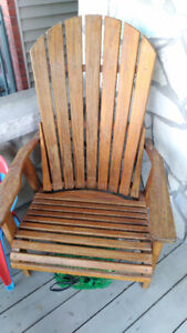 Solid wood deck chair