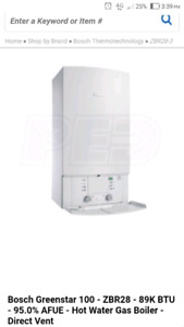 Bosch natural gas boiler