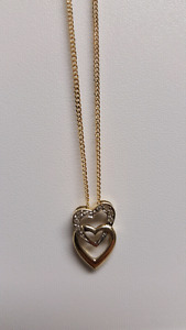 Gold chain and pendant