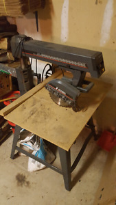 "Craftsman 17"" compound mitre radial arm saw,- Pick up"