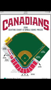 4 Canadians Baseball Box tickets