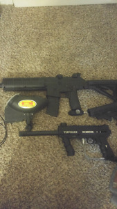 Paintball gear - markers, hoppers, masks - 800 OBO