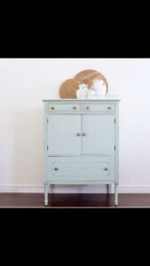 Gorgeous Antique/Vintage refinished cabinet/armoire