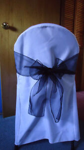 Wedding Chair Sashes Black Tulle