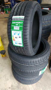 New 225/45R17 all season tires, $370 for 4