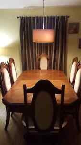 Beautiful dining table and chairs.