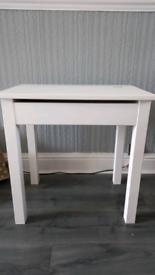 Child's white wood desk