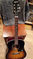 Epiphone Acoustic Guitar, Stand,and Case