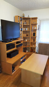 TV Entertainment Unit and Corner Shelving