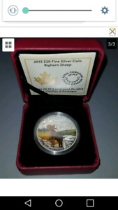 Looking For 2015 $20 Fine Silver Coin Bighorn Sheep