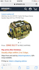 Wild river tackle bag with built in speakers