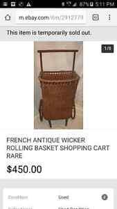 Antique rolling basket shopping cart London Ontario image 5