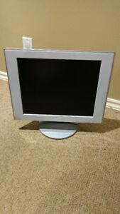 Écran moniteur LCD Sony 17 pouces, carré, blanc, VGA