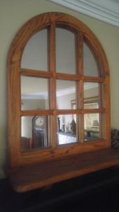 Nice wood mirror with ledge