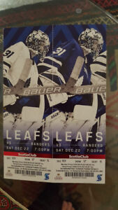 Leafs tickets for Saturday December 22nd