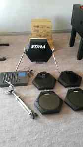 Vintage Tama Techstar Electronic Drums- Mint- RARE- Look!